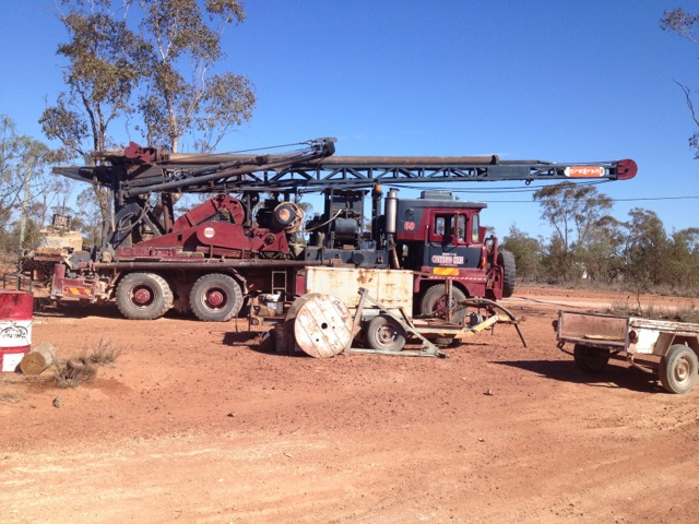 Opal Drilling Rig at Grawin Opal Fields