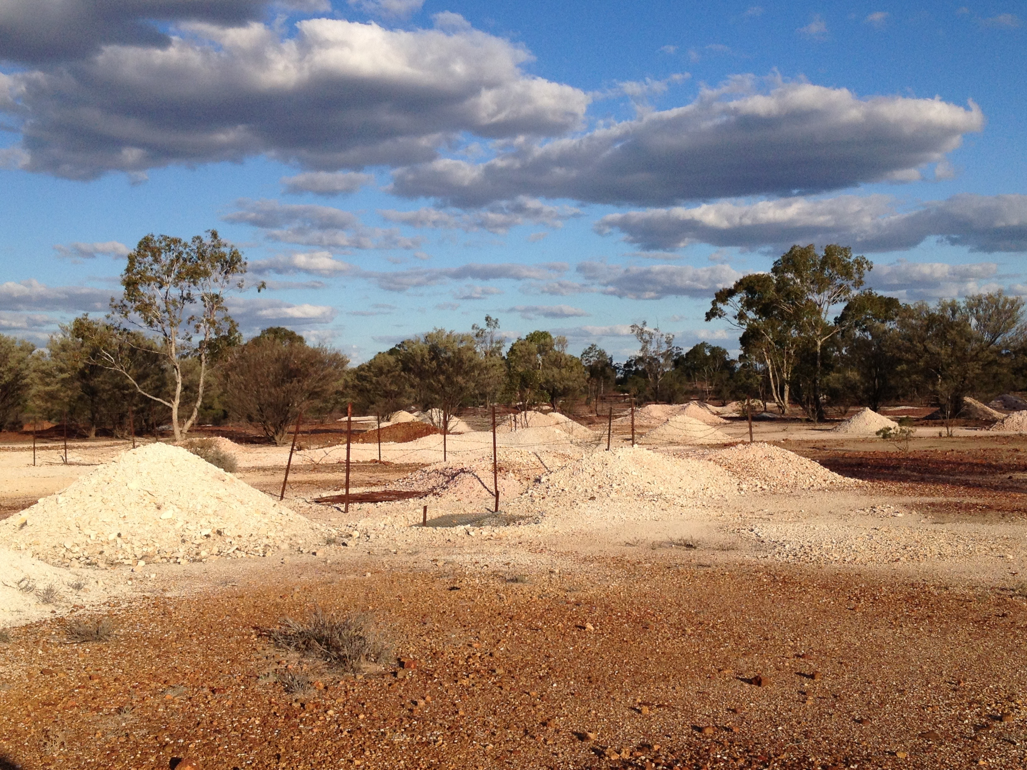 Coocoran Opal Field Mullock Heaps