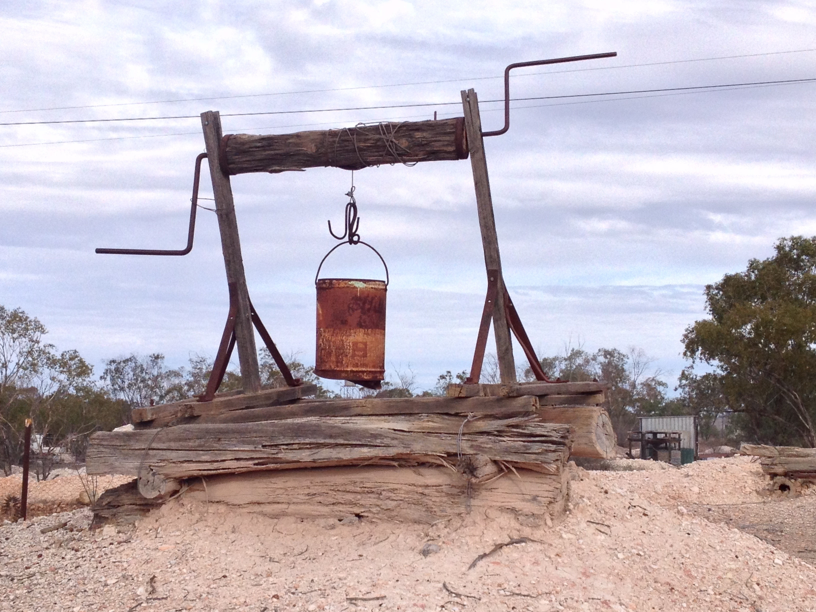 Lightning Ridge - Early Mine Shaft